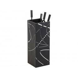 Serviteur Flame Noir givré intérieur blanc Dixneuf design