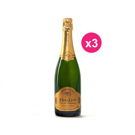 Champagne HeraLion Eclat d'Or Réserve Brut (Carton de 3)